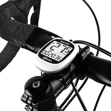 Ordenador para Bicicleta con GPS Inalámbrico, Mini velocímetro cuentakilómetros para Bicicleta Impermeable, Ordenador para Bicicleta Recargable USB con Pantalla LCD para Velocidad, altitud, Distancia: Amazon.es: Electrónica