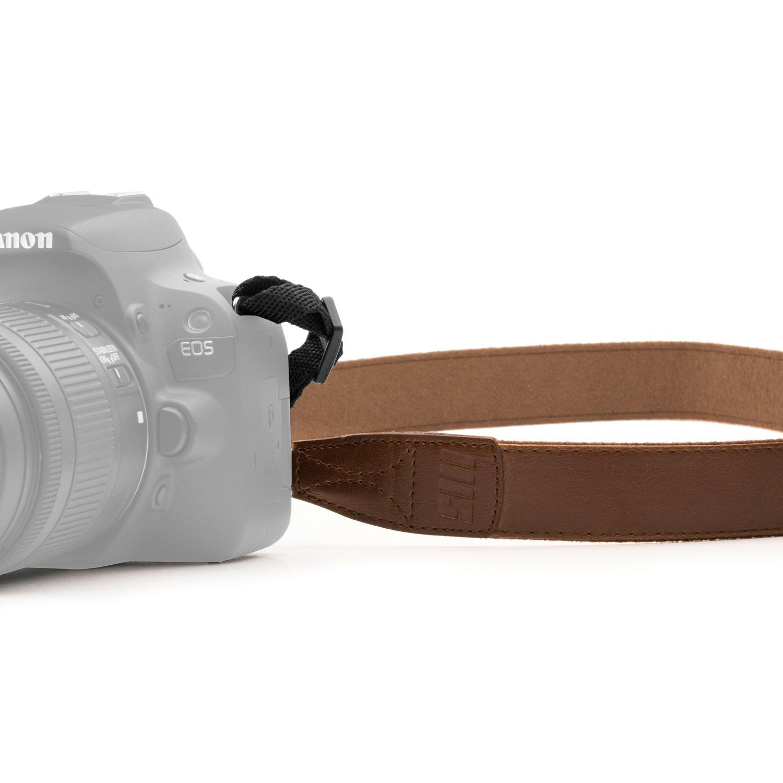 MegaGear–Marrón de cuero cámara réflex digital, Videocámara cuello correas de hombro para Canon, Nikon, Samsung, Olympus, Sony, Fujifilm, Panasonic, MG137