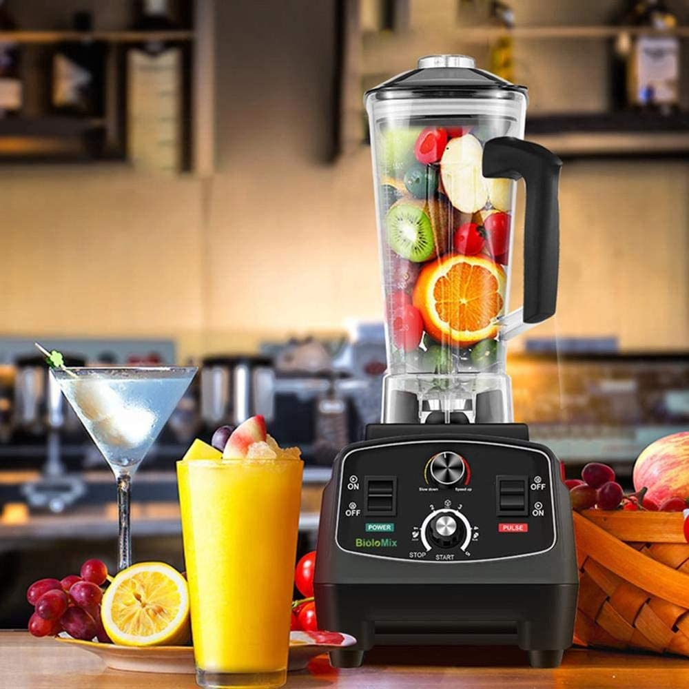OPENDOORRED Commercial Grade Timer Blender, BPA Free 2200W Mixer Heavy Duty Automatic Fruit Juicer, Food Processor Ice Crusher Smoothies