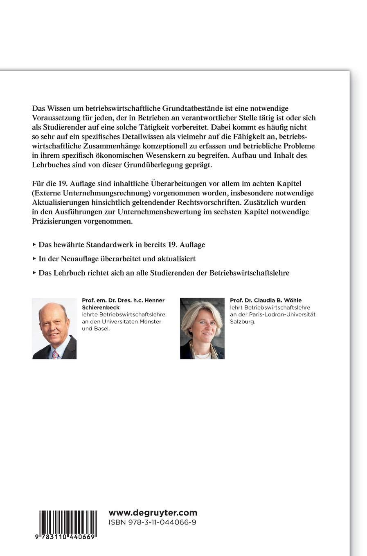 Grundzüge der Betriebswirtschaftslehre (De Gruyter Studium) - Henner  Schierenbeck, Claudia B. Wöhle - Amazon.de: Bücher