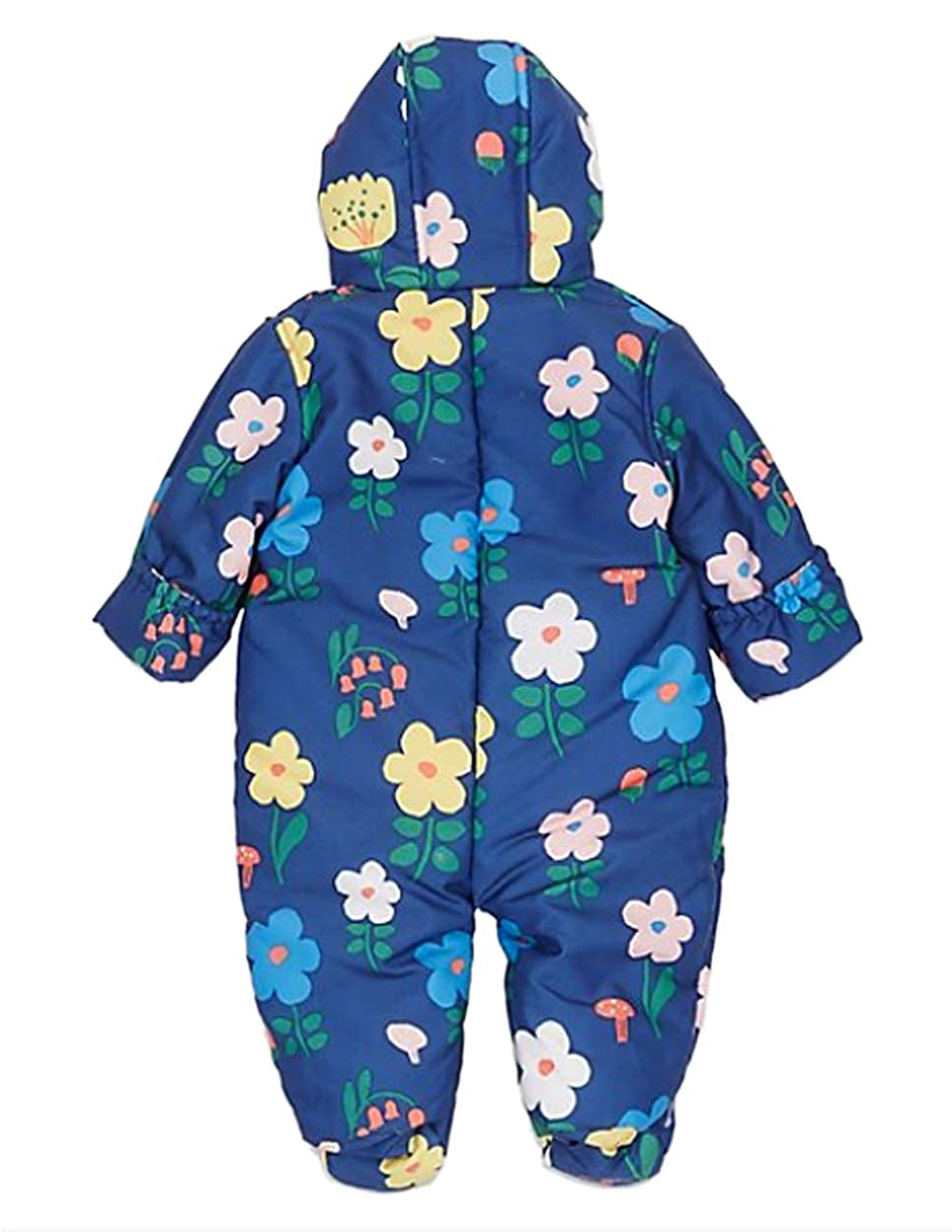 BABY GIRLS SNOWSUIT CREAM FLORAL MARKS /& SPENCER 3 6 9 12 18 MONTHS RRP £22 NEW