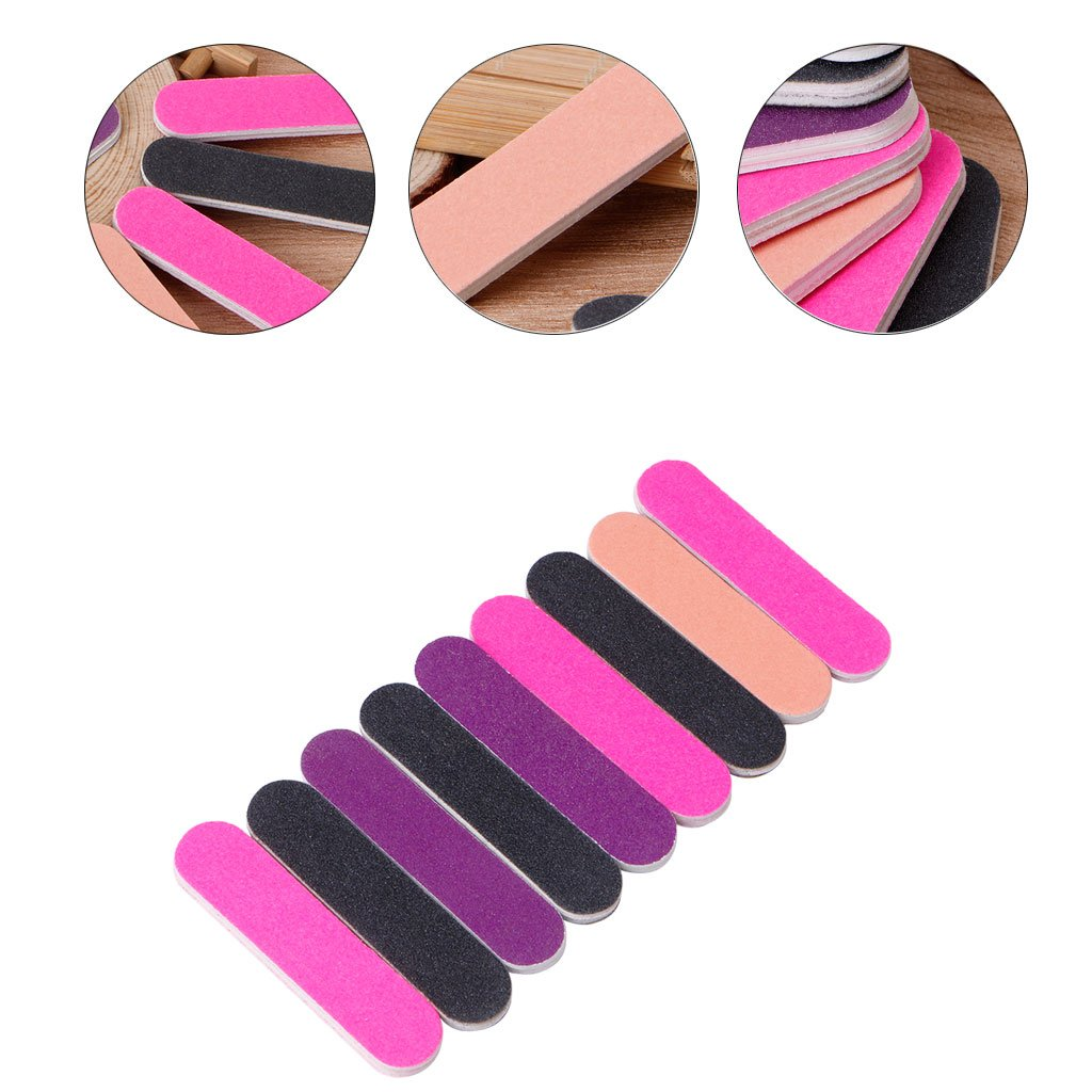 Milue Nail Files Sandpaper Round Double Side Nail Art Tips Manicure For Salon Home Use by Milue (Image #3)