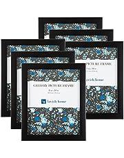 مجموعة إطار صورة، حزمة لجدار معرض الصور مع حامل وخطاطيف تعليق، مجموعة من 6 من لافيش هوم