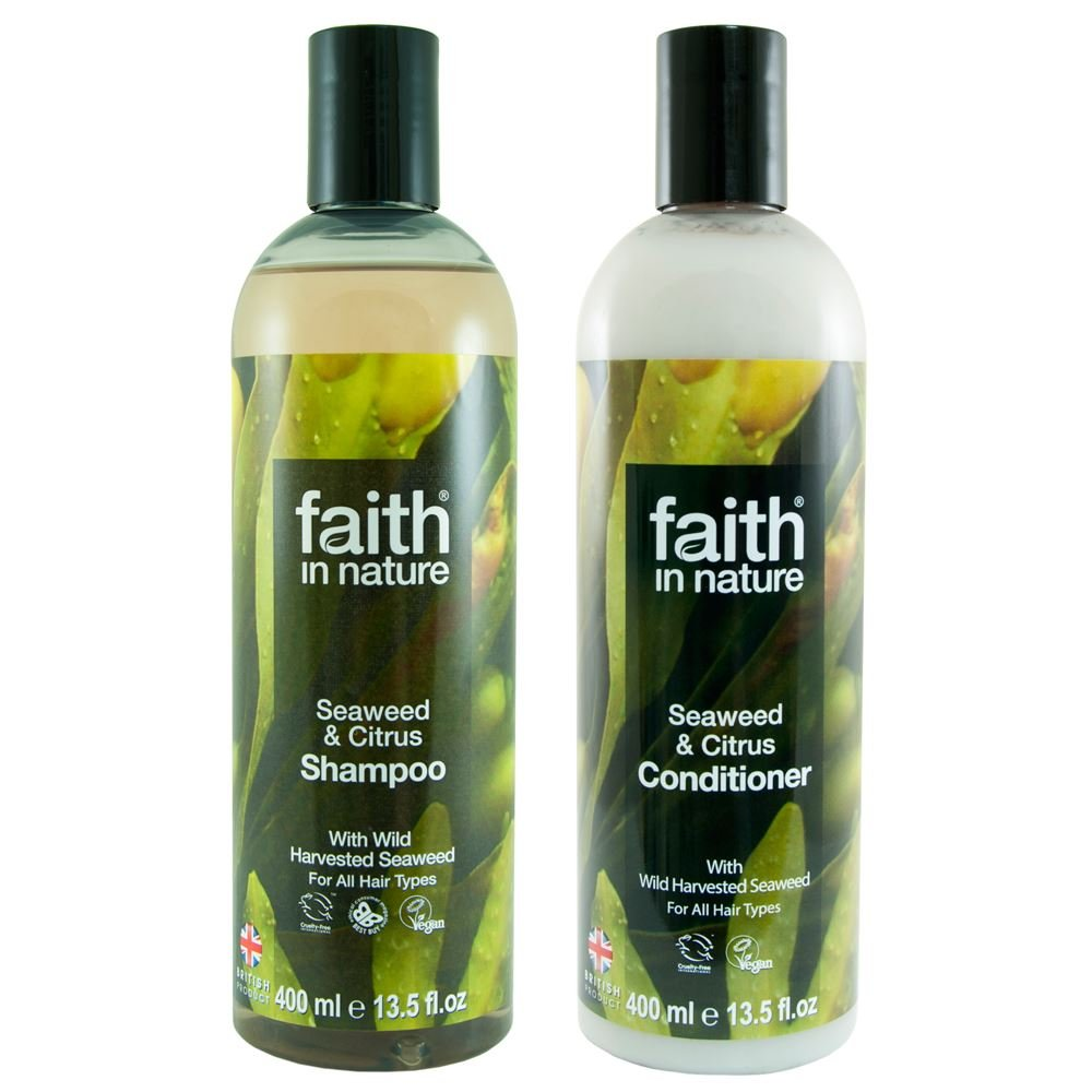 Faith In Nature Seaweed & Citrus Shampoo 400ml & Conditioner 400ml Duo