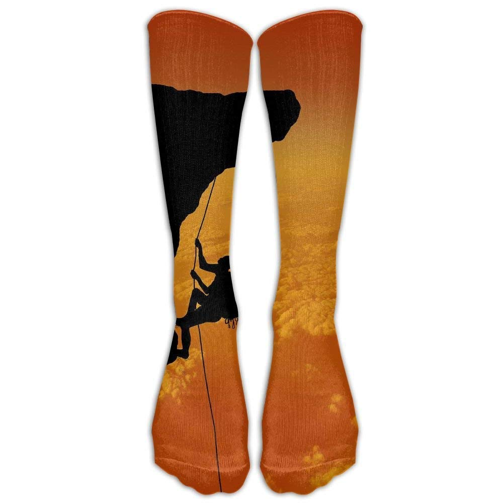 Womens Rock Climbing Adventure Printed Sock Over Knee High Boots Girls Long Socks