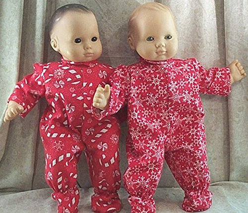 Doll Clothes Baby Made 2 Fit American Girl 15 Bitty Boy Twins Pajamas Candy Cane