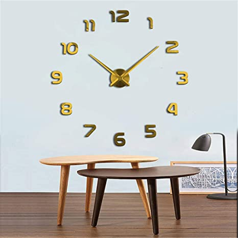 Amazon.com: SHFISIKI Real Special Watch Quartz Wall Clocks 3D Acrylic Clock Design Luxury Large Decorative Clocks Stickers Duvar Saati Black 37 Inch: Home & ...