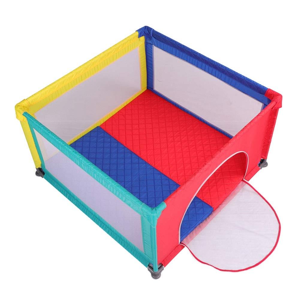 ベビーサークル ポータブルベビーベビーサークル 幼児セキュリティフェンス クロールマット付き、ベッドで使用することができます、高さ70cm- 多色(サイズ任意) (サイズ さいず : 120x120cm) 120x120cm  B07P3VR2V6