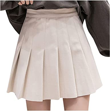 ROUNYY Falda de Mujer de Cintura Alta, Falda de Lana, Falda ...