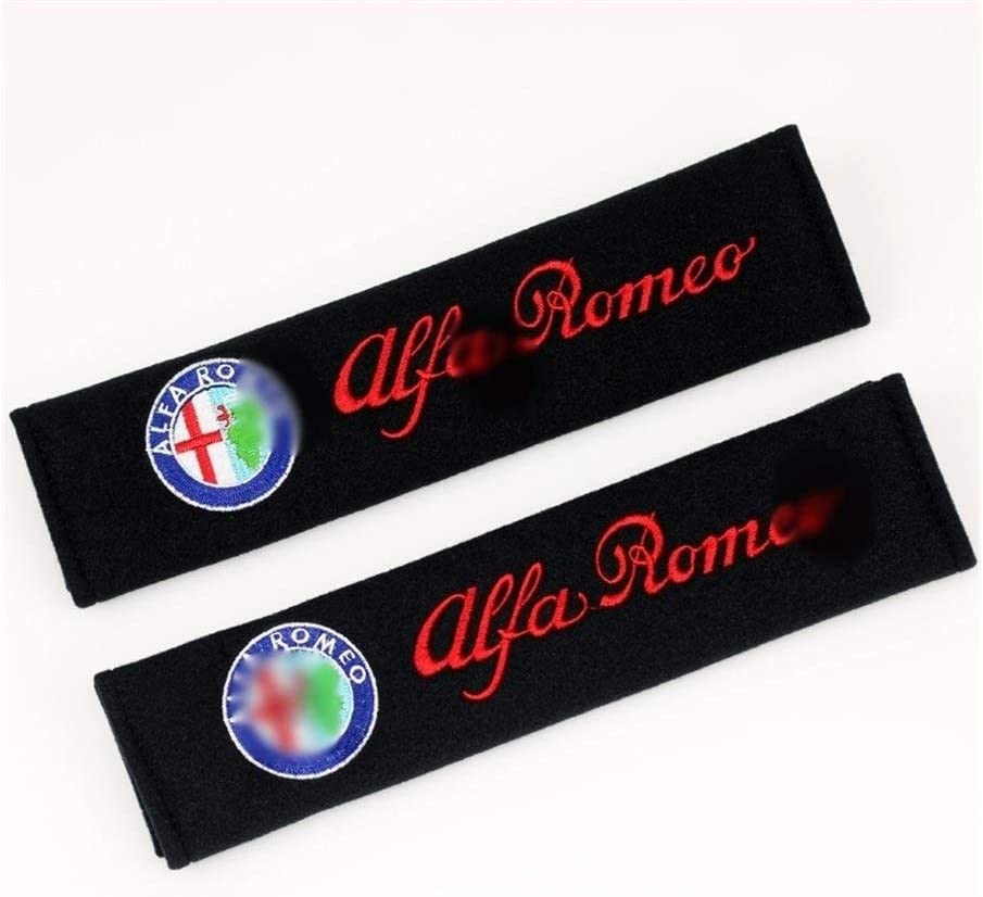 OutdoorKing pour Alfa Romeo 159 147 156 147 159 Giulietta Mito Emblem Voitures Ceinture De Protection Pad Housse De Si/ège 26cm 2pcs