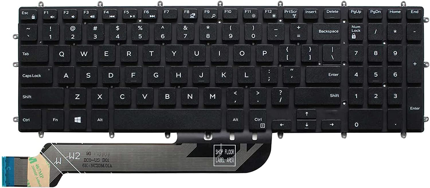 No Frame US Keyboard for Dell Inspiron 3579 3583 3779 5565 5567 5570 5575 5587 7566 7567 7577 7588 5765 5767 5770 5775 7773 7778 7779 Laptop (No Backlight)