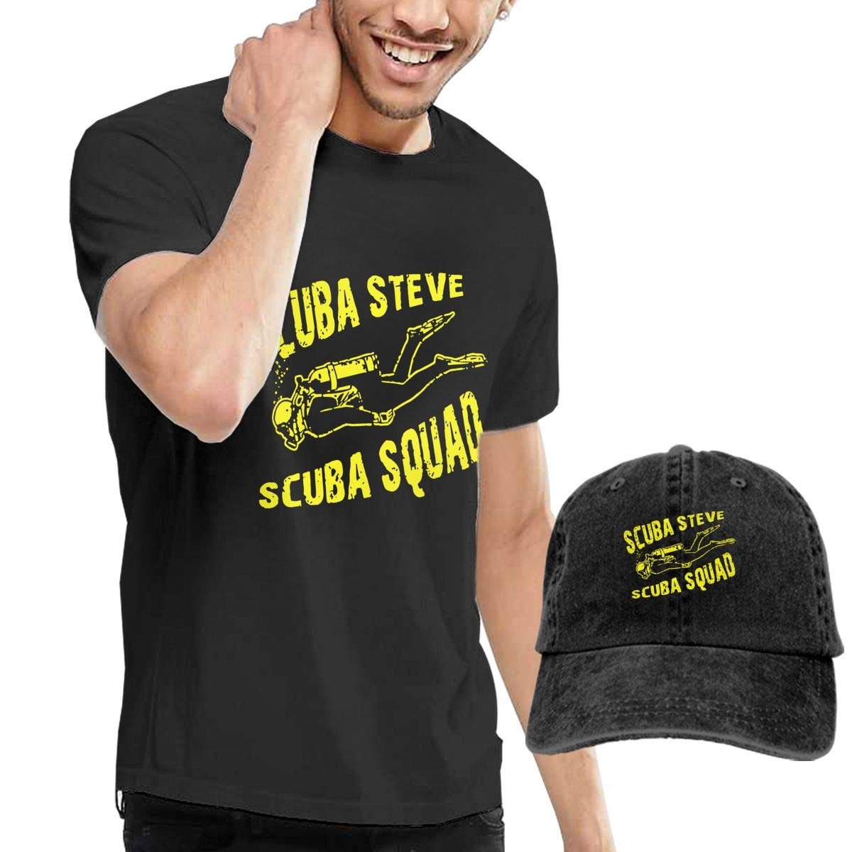 WWTBBJ-B Scuba Steve Scuba Squad Adult Mens Sportstyle T Shirts and Sport Jean Headgear