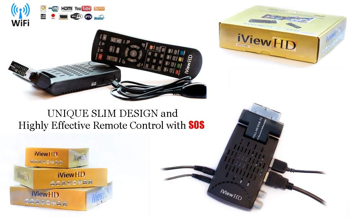 Analogue to Digital Television Converter HDMI or SCART Connection Wi-Fi UK Freeview HD WiFi Ready TV Receiver FULL HD USB Recorder Tuner Terrestrial Digibox 1080P HD 4in1