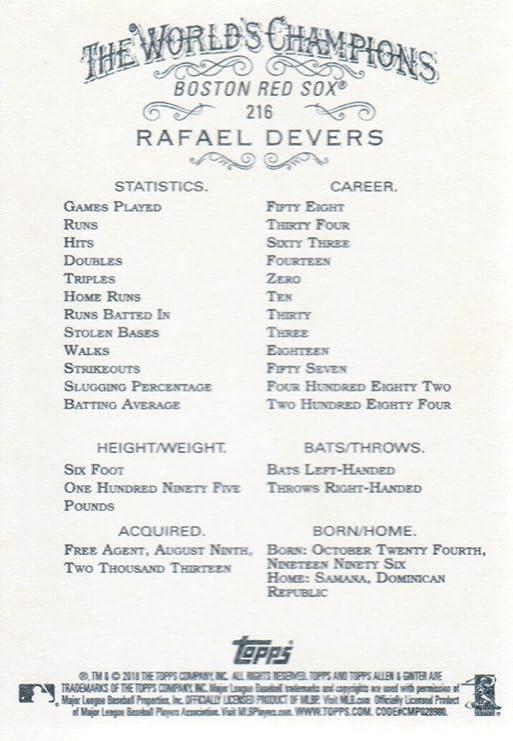2018 Topps Allen /& Ginter Base #216 Rafael Devers RC