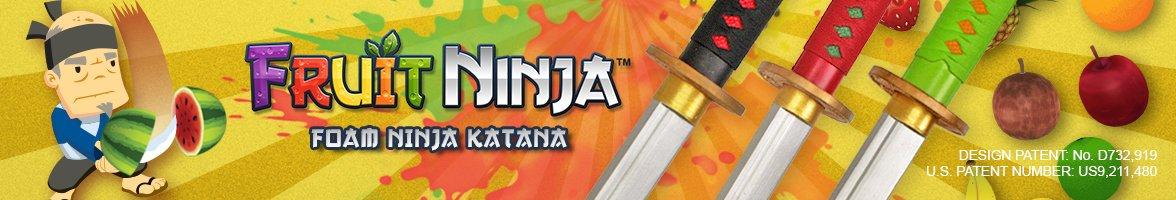 Amazon.com: Fruit Ninja Neon Green Handle Foam Katana: Toys ...