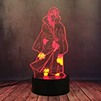 Anime Cartoon Comic Naruto Uchiha Sasuke Itachi 3D Bureaulamp LED Cool Uzumaki Naruto Nachtlampje 16 Kleurverandering…