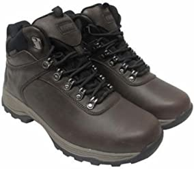 Khombu Mens Waterproof Leather Hiking Boots