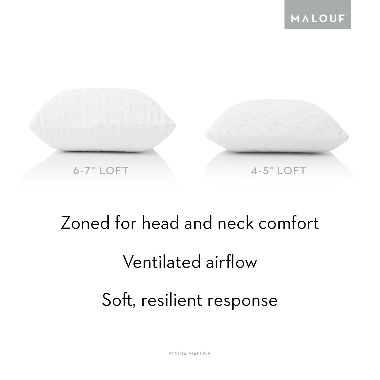 latex pillow zoned