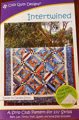 Pattern Intertwined Using 2 and one Half inch Strips Cozy Quilt Design,Multi Color