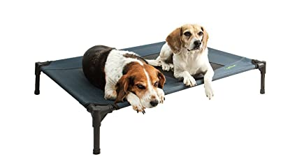 Dog Cot Waterproof Raised Dog Bed The Perfect Outdoor Dog Bed Dark Grey