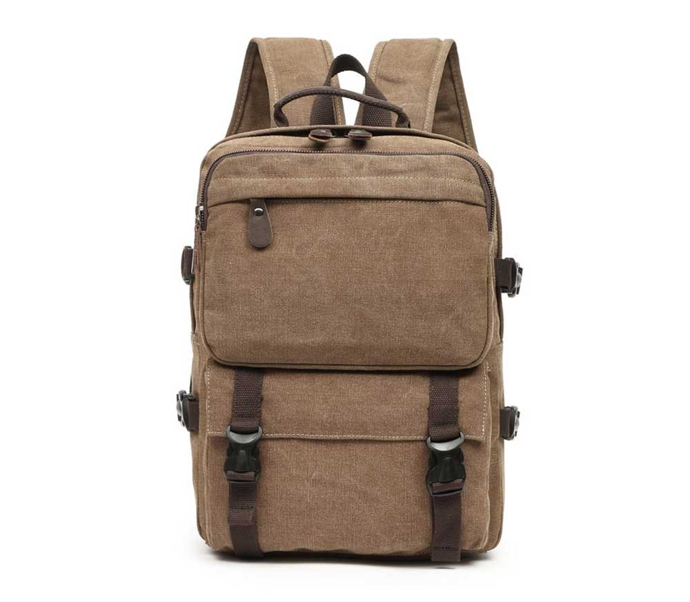 Amyannie Casual Vertical Canvas Bag Men and Women Wear Art Travel Students Backpack Shoulder Bag Backpack