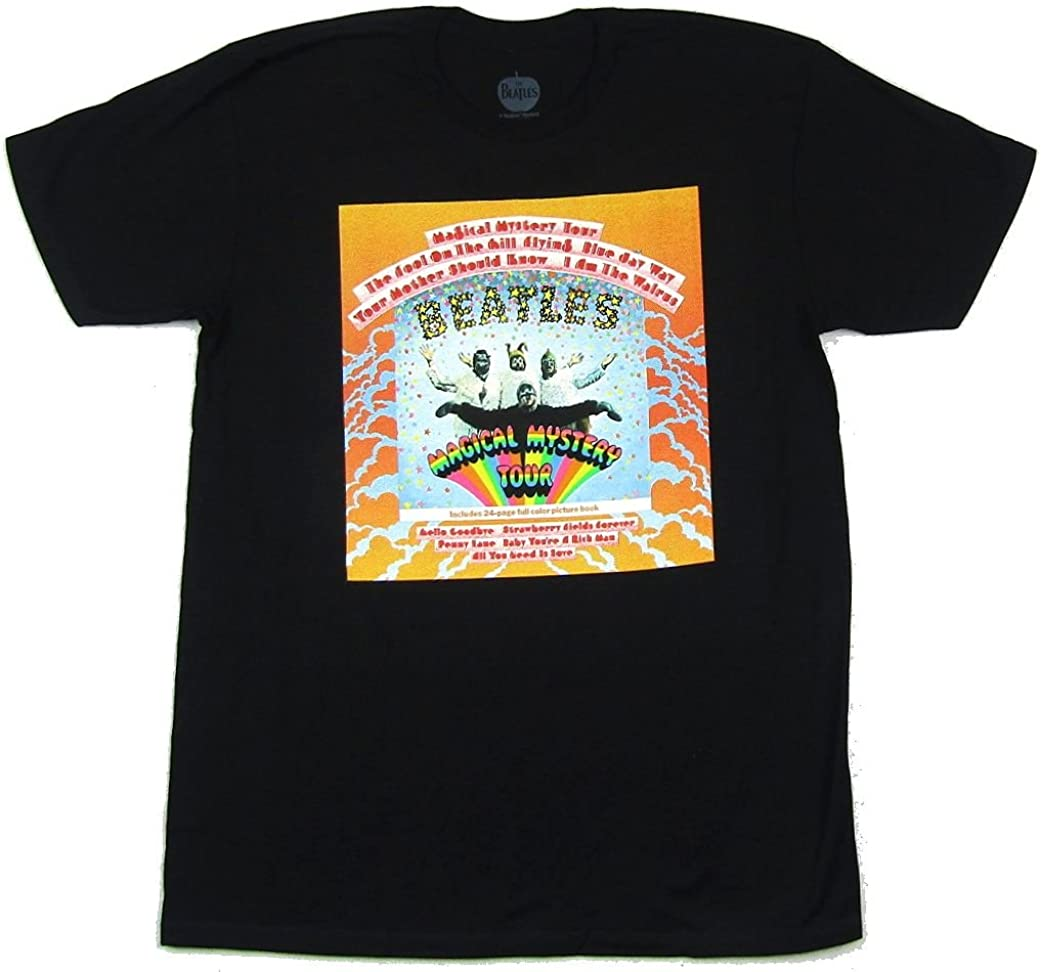 Beatles Magical Mystery Tour Black T Shirt