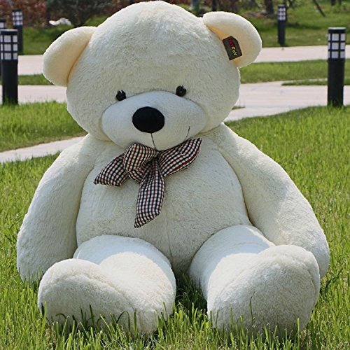 US Stock WhiteGiant 2m Teddy Bear 2m 78'' Life Size Soft Stuffed Animals Plush Toy Birthday Valentine Christmas Anniversay - Greece Malls Shopping In