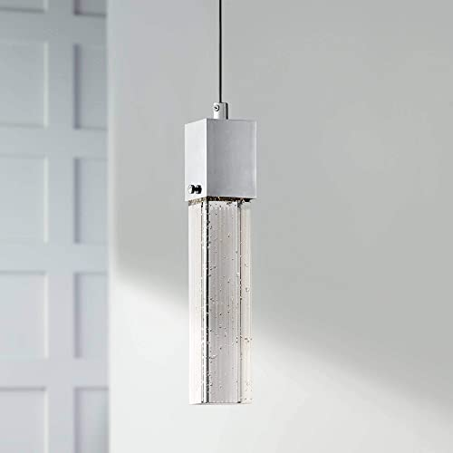 Tinela Chrome Mini Pendant Light 2 1 2 Wide Modern Clear Bubble Glass LED Fixture for Kitchen Island Dining Room – Possini Euro Design