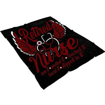 Amazon.com: OAKSTORE Retired Nurse Soft Fleece Throw Blanket ...