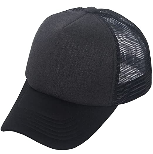333b8c658af Image Unavailable. Image not available for. Color  E-forest hair Unisex Plain  Baseball Trucker Caps Mesh Hat Adjustable Snapback Hat 5 Panel