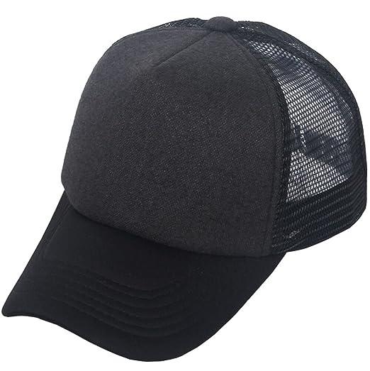 8be2ab9c241 E-forest hair Unisex Plain Baseball Trucker Caps Mesh Hat Adjustable ...