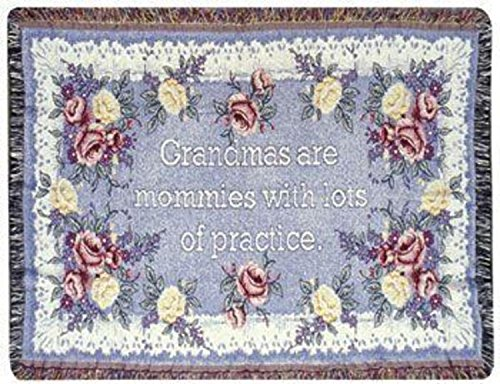"""Simply Home Grandma Grandmother Appreciation Floral Afghan Throw Blanket 40"""" x 50"""" from Simply Home"""