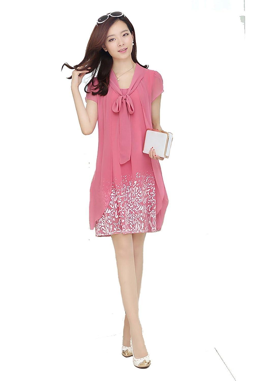 2017 Fashion Summer Maxi Dresses Sweet Short Sleeve Chiffon Dress Plus Size