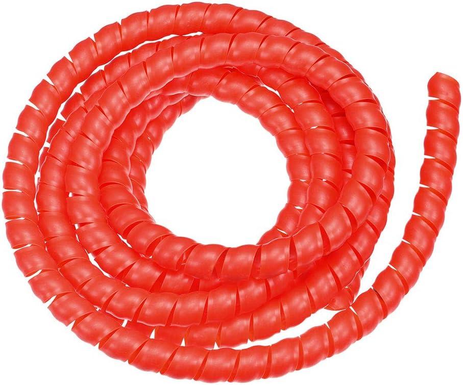 sourcing map Flexible Spirale Tube Enveloppe C/âble Gestion Manchon 16mm x 19mm Ordinateur Fil G/érer Corde 3.5 M/ètres Longueur Rouge