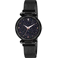 ROYAL STEP Analog Luxury Crystal Glass Magnet Strap Girl's & Women's Watch