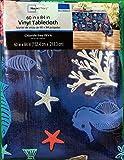 Summer Blue Sealife Rectangular Vinyl Tablecloth (60 x 84 Inches)