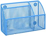 Honey-Can-Do OFC-04870 Mesh Magnetic Organizer, 2.75'' x 7.5'' x 4.75'', Blue