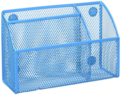 Honey-Can-Do OFC-04870 Mesh Magnetic Organizer, 2.75'' x 7.5'' x 4.75'', Blue by Honey-Can-Do