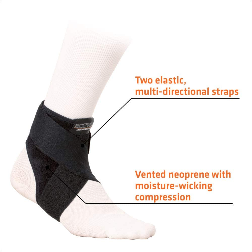Pain Relief /& Recovery from Ankle Pain Sprains /& Strains Planter Fasciitis /& Achilles Tendon Support Shock Doctor PRIME Ankle Brace Compression Support Wrap