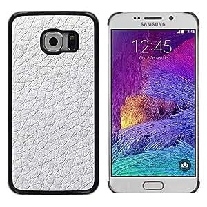 TopCaseStore / la caja del caucho duro de la cubierta de protección de la piel - Material White Design Pattern Wallpaper - Samsung Galaxy S6 EDGE SM-G925