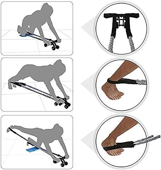 AB Roller Rueda de ejercicio AB Rodillo de 4 ruedas abdominales Equipo de ejercicio de rueda muscular en casa gimnasio entrenamiento con rodillera ...