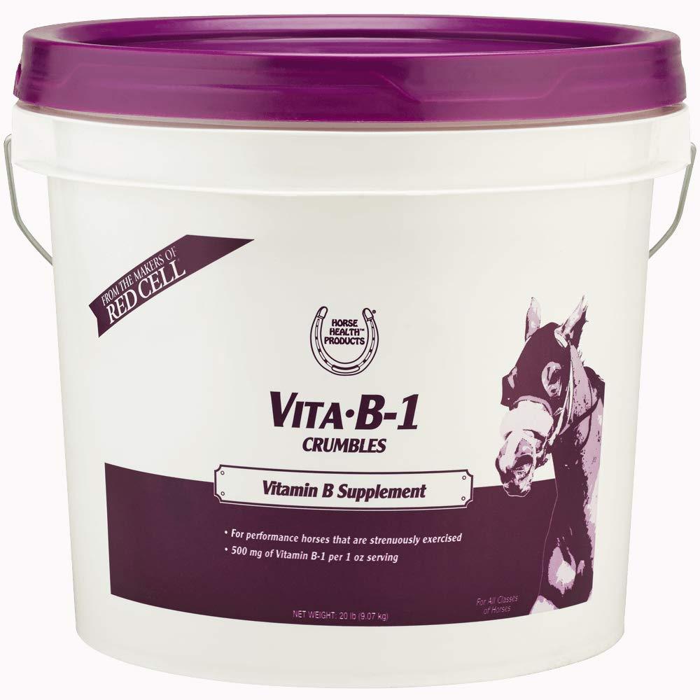 Horse Health Vita B-1 Crumbles Vitamin B Supplement, 20 lbs