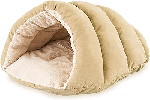 SPOT Cuddle Cave Dog Bed for Cats Small Dogs Calming Cozy Covered Sleeping Cushion for Cuddlers Burrowers