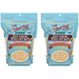 Bob's Red Mill Organic Quick Cooking Steel Cut Oats 22 oz (Two Pack) - Organic Quick Cook Steel Cut Oats - 2 Pack Whole…