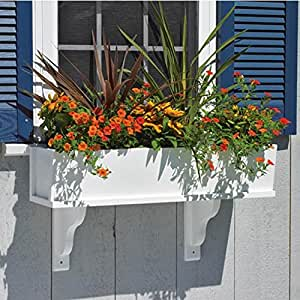 "Good Directions Lazy Hill Farm Designs 'Montauk' Window Box Montauk Composite PVC Window Box - 48"" (2 Brackets)"