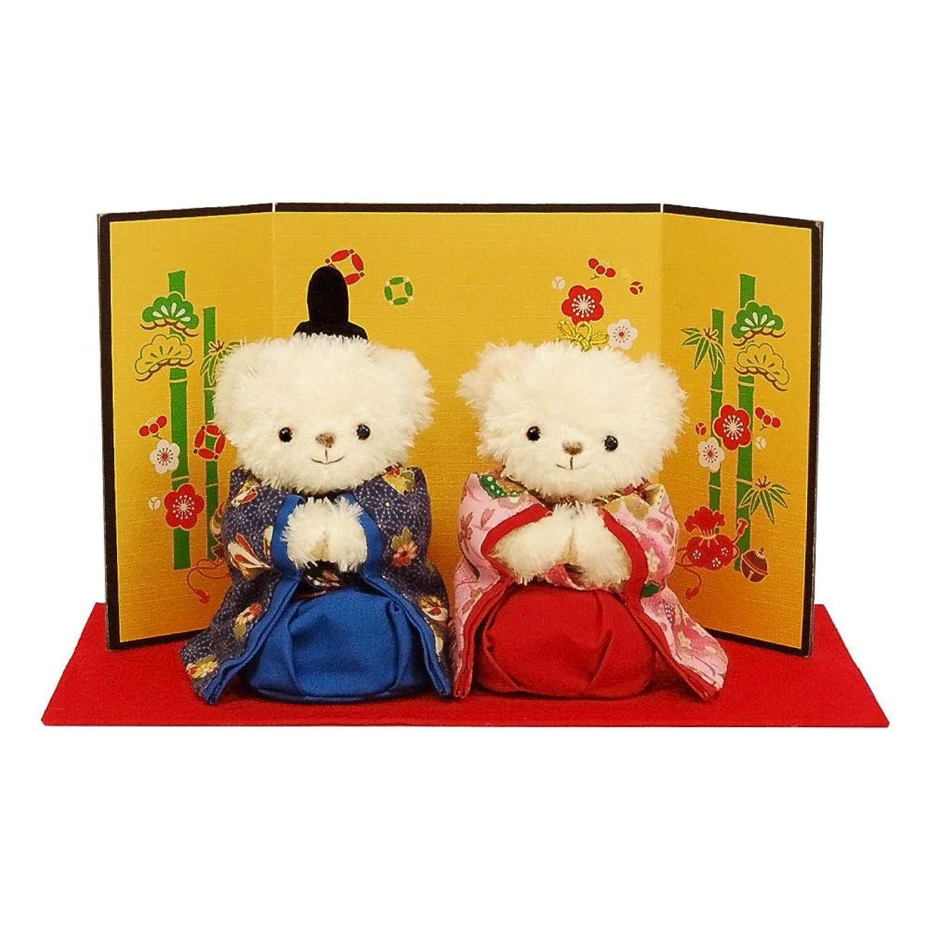 黙認するアミューズ未来雛人形 ひな人形 ちりめん 桐箱入り 扇面三段わらべ雛10人揃い 桐箱セット