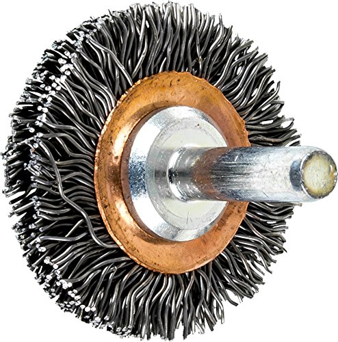 1-1//2 Diameter.020 Wire Diameter Carbon Steel Wire Pack of 10 PFERD 82889 Stem Mounted End Crimped Wire Brush 20000 RPM