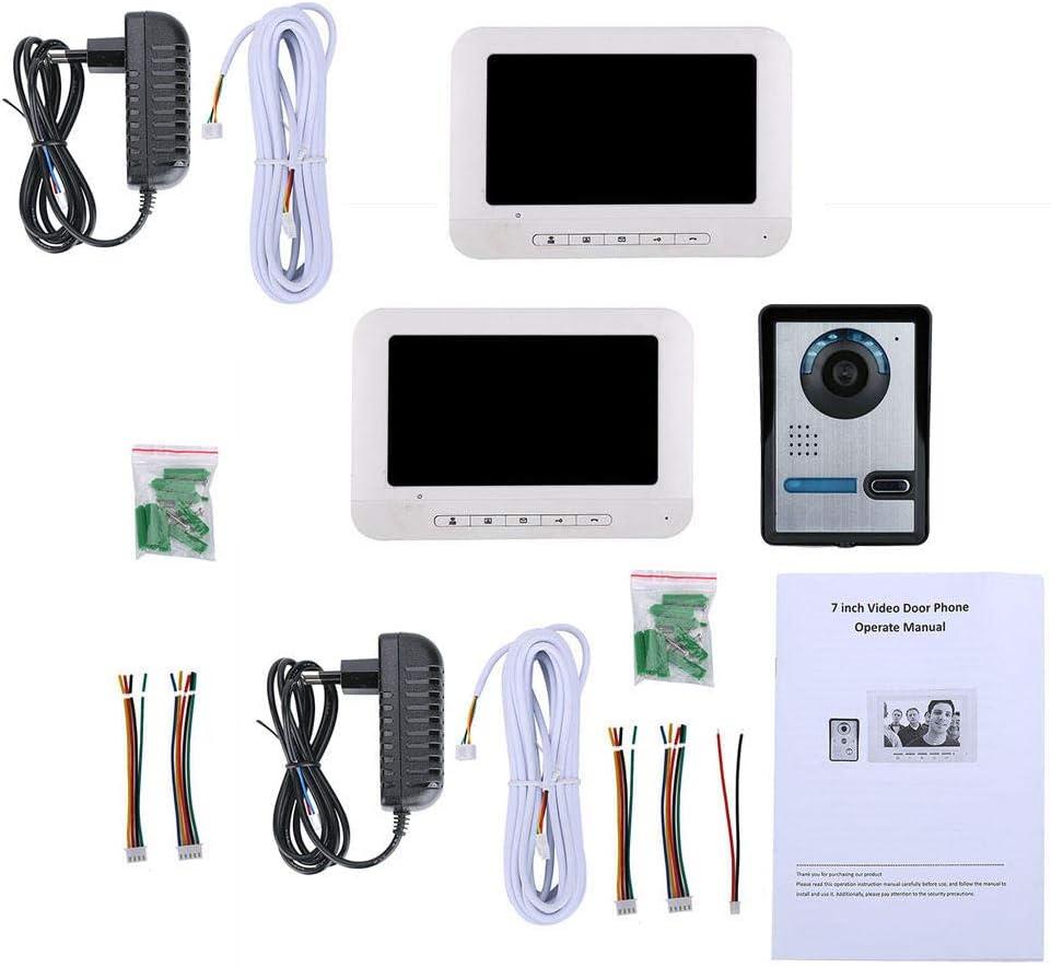 monitor t/áctil 2 visi/ón nocturna HD conversaci/ón bidireccional en tiempo real Timbre de/video inteligente/DYWLQ,videoportero de intercomunicaci/ón con video manos libres para el hogar con 7 pulgadas