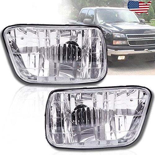 Fog Lights For Chevy Trailblazer 2002-2009 (Do NOT Fit in 2007-2009 Trailblazer SS Models) Isuzu Ascender 2003-2008 (OE Style Clear Lens w/ 880 12V 27W Bulbs)