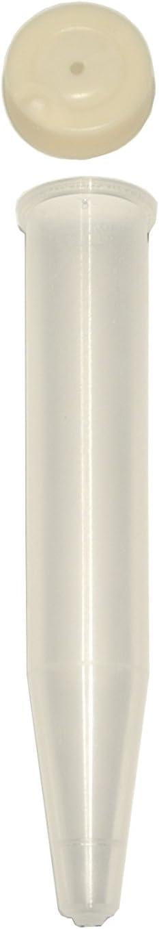 Schreiber Deko Lot de 100 Tubes dorchid/ée d/écoratifs 7,5 CC avec Couvercle Transparent /Ø 13 mm x 80 mm